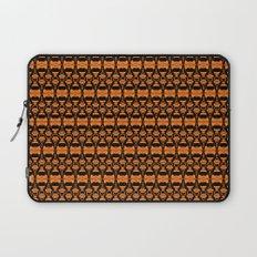 Dividers 02 in Orange Brown over Black Laptop Sleeve