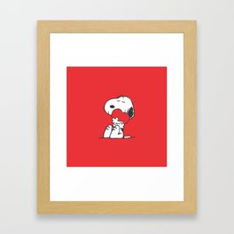 snoopy love miss hug Framed Art Print