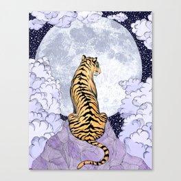 Tiger Moon | Colour Version Canvas Print