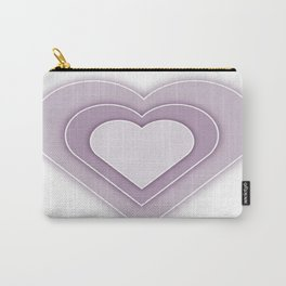 Lilac Hearts Carry-All Pouch