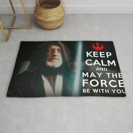 Keep Calm Star Wars - Alec Guinness Rug