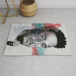 King Hammer: Tribute to Lewis Hamilton Rug