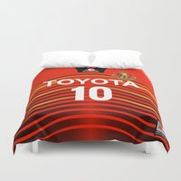 2001 Duvet Covers featuring Nagoya 2001 by Thomas Fiers