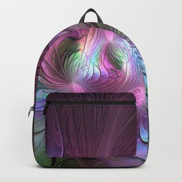 Magical Movements, Colorful Abstract Art Fractal Backpack