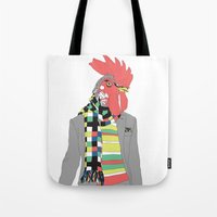 rooster Tote Bags featuring Rooster by Nathalie Otter