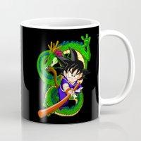 goku Mugs featuring Little Goku by feimyconcepts05