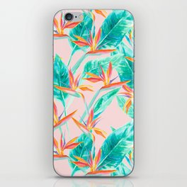 Birds of Paradise Blush iPhone Skin