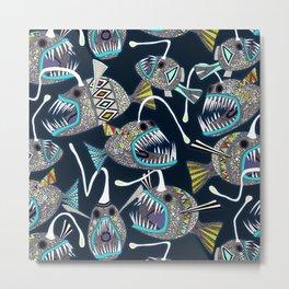 deep sea anglerfish Metal Print