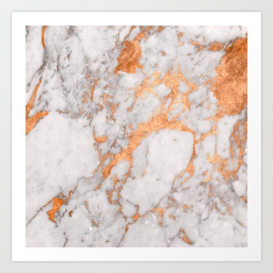 Copper Marble Art Print