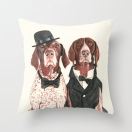 german short hair pointers - F.I.P. @ifitwags (The pointer brothers) Throw Pillow