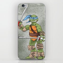 Leonardo TMNT Print - !TURTLE POWER! iPhone Skin