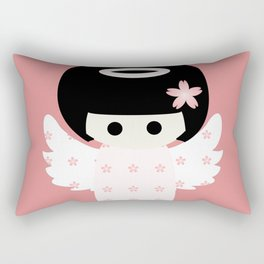 Angel Kokeshi Rectangular Pillow