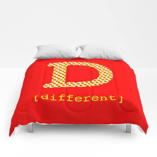 #D [different] Comforters