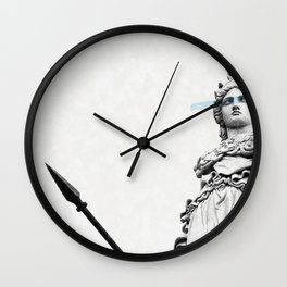 Athena the goddess of wisdom Wall Clock