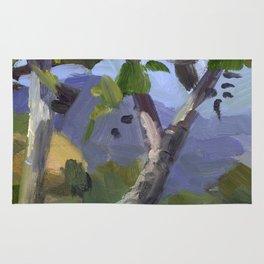 BETTE DAVIS PARK, plein air landscape by Frank-Joseph Paints Rug