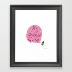 Smooching Framed Art Print