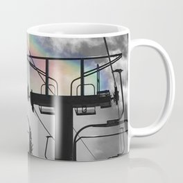 4 Seat Chair Lift Rainbow Sky B&W Coffee Mug