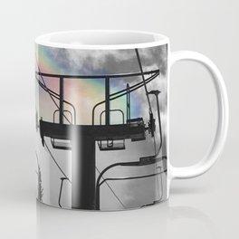 4 Seat Chair Lift Rainbow Sky B&W Coffee Mug