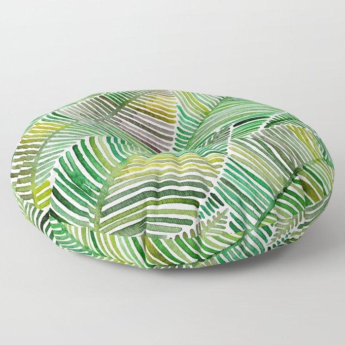 Tropical Green Floor Pillow