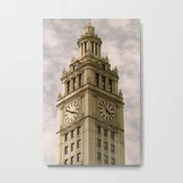 Chicago Clock Tower Metal Print