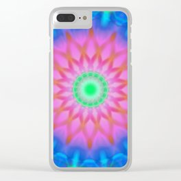 Abstract Flower AA Y Clear iPhone Case
