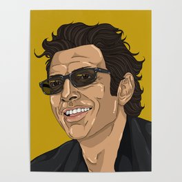 Jeff in Yellow Poster