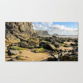 Watergate Bay - Rock Pools Canvas Print
