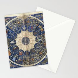 Horoscope from The book of birth of Iskandar (1411) - The Heavens on 25th April 1384 Stationery Cards