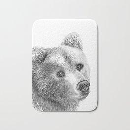 Shaggy Grizzly Bear Bath Mat