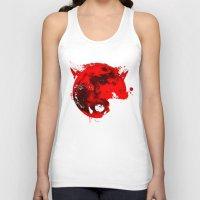 werewolf Tank Tops featuring Werewolf by Badamg