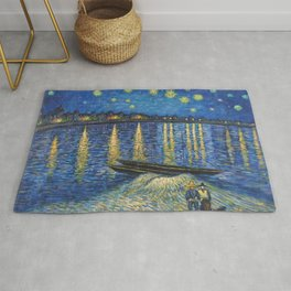 Starry Night Over the Rhône Painting Rug