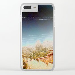 Cotton Flakes Clear iPhone Case