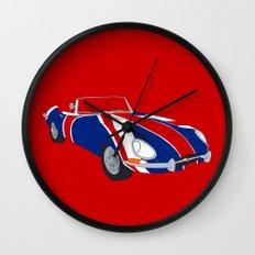 Shaguar (on Red) Wall Clock