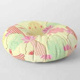 Art deco Indian elements Floor Pillow