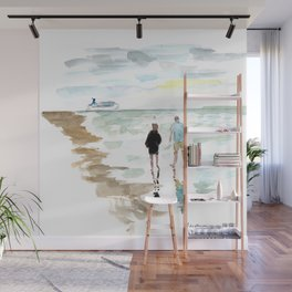 Beach Walk Wall Mural