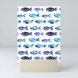 Sardines swimming to Sardegna Mini Art Print