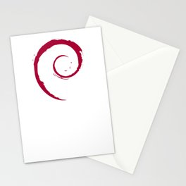 Debian Official Spiral Swirl Logo T-Shirt Stationery Cards