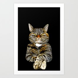 cat like a boss vector art Art Print