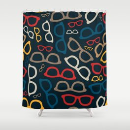 Colorful Smart Glasses Pattern Shower Curtain