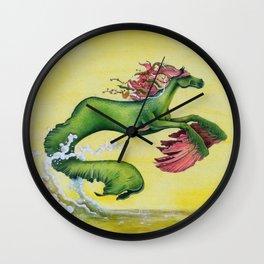 Hippocampus Sea Horse Wall Clock