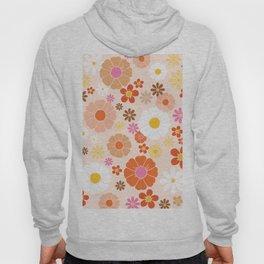 Groovy 60's Mod Pastel Flower Power Hoody