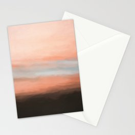Abstract Pink Grey and Black Shades.   Like painted on canvas. Stationery Cards
