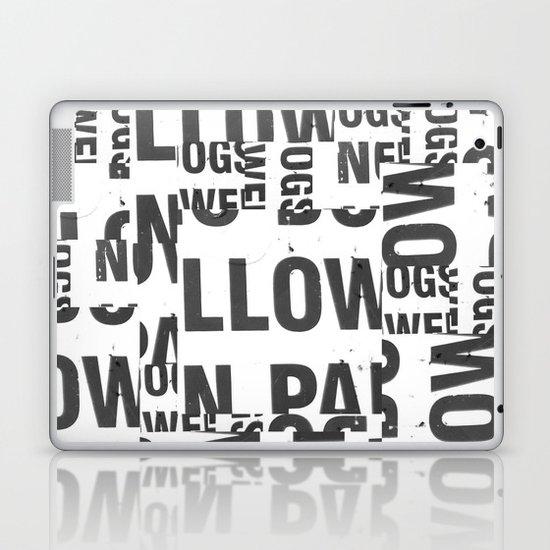 TYPE COLLAGE Laptop & iPad Skin