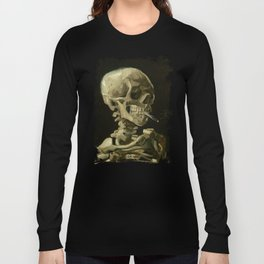 Skull Of A Skeleton With A Burning Cigarette - Vincent Van Gogh Long Sleeve T-shirt