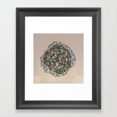 - blue orange green - Framed Art Print