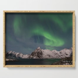 Northern Lights Over Lofoten Serving Tray