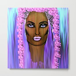 Bride of the Morning Oil Painting Metal Print