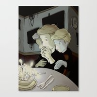 fear Canvas Prints featuring fear by Jubenal Rodriguez
