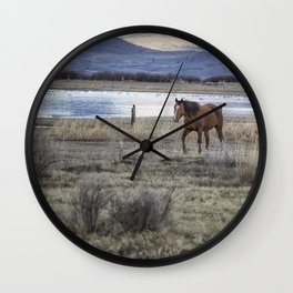 Nearing a Friend Wall Clock