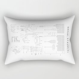 Sixth Sense (ASCII) Rectangular Pillow